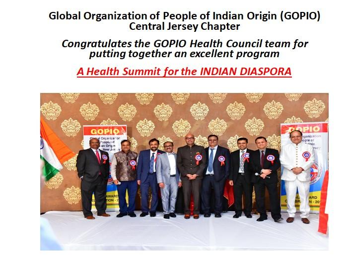 Health Summit for the INDIAN DIASPORA-GOPIO Health Council