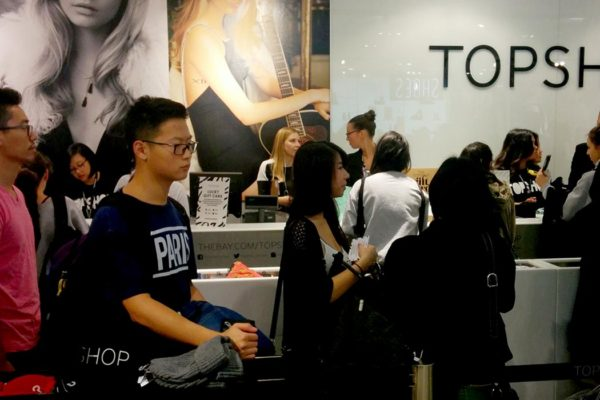 Topshop Campaign at Event Mall