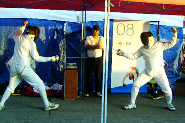 Fencers at Bell event
