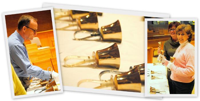 handbell choir collage