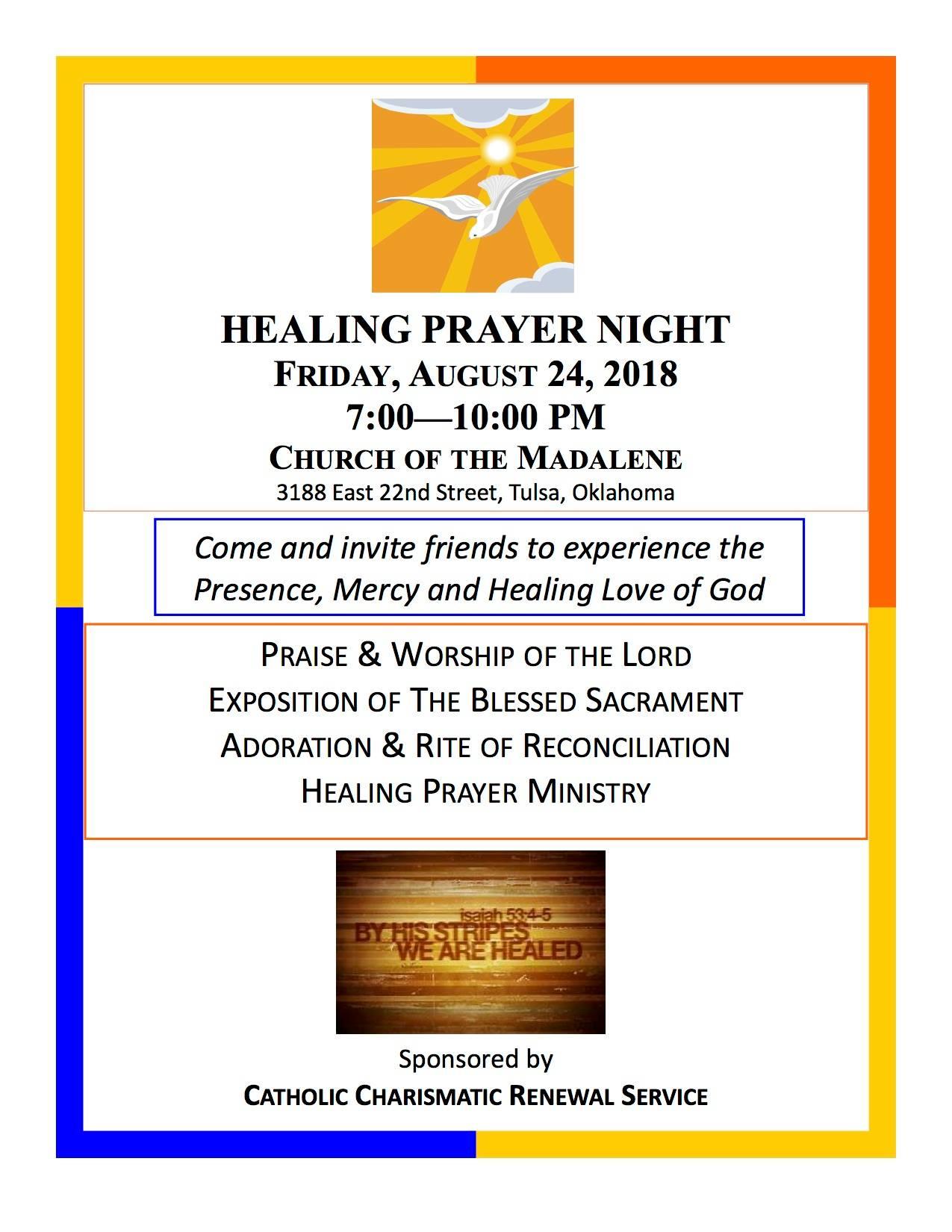 Healing Prayer Night - Church of Saint Mary