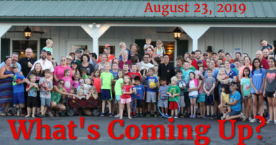 What's Coming Up? August 23, 2019