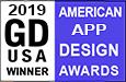 Graphic Design USA magazine American App Design Awards Winner 2019