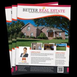 Real Estate Flyers Pixels Graphic Design