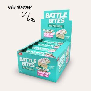 Battle Bites white choc toasted