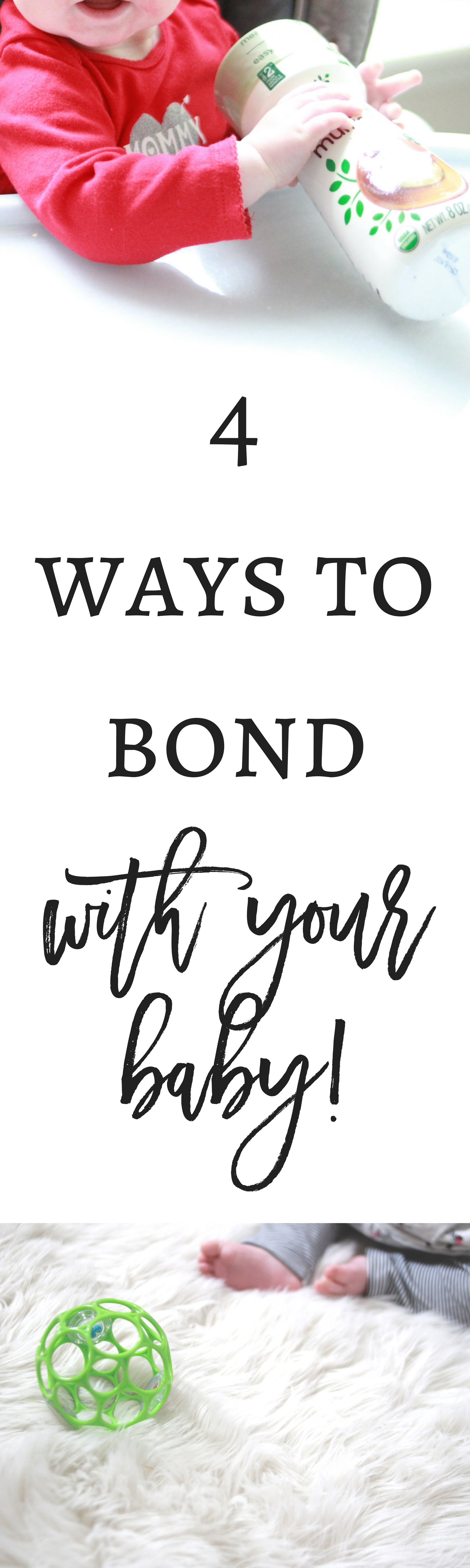 4 ways to bond with your baby