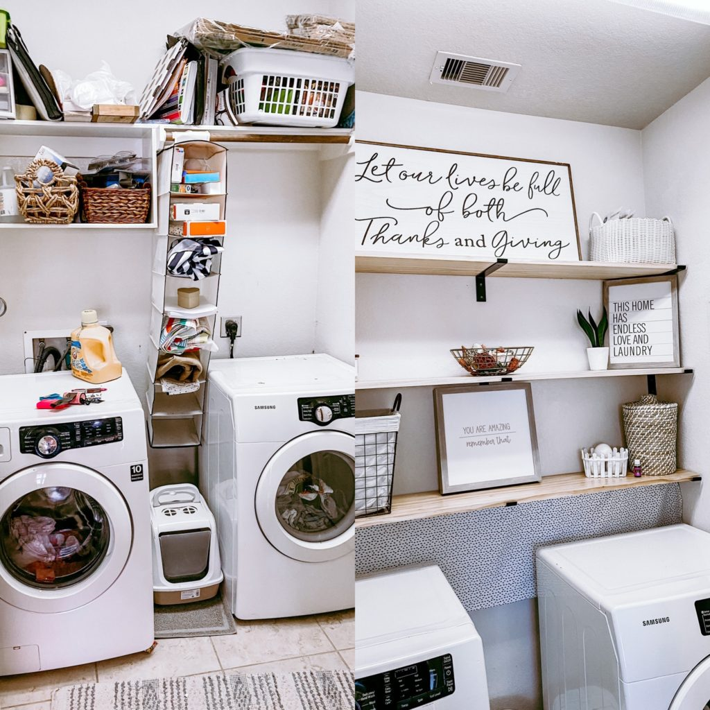small laundry room makeover for under $150