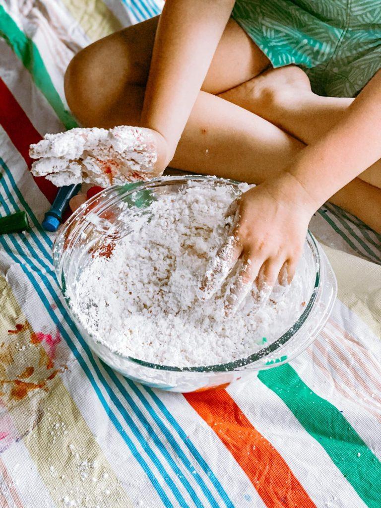 the easiest 3 ingredient playdough