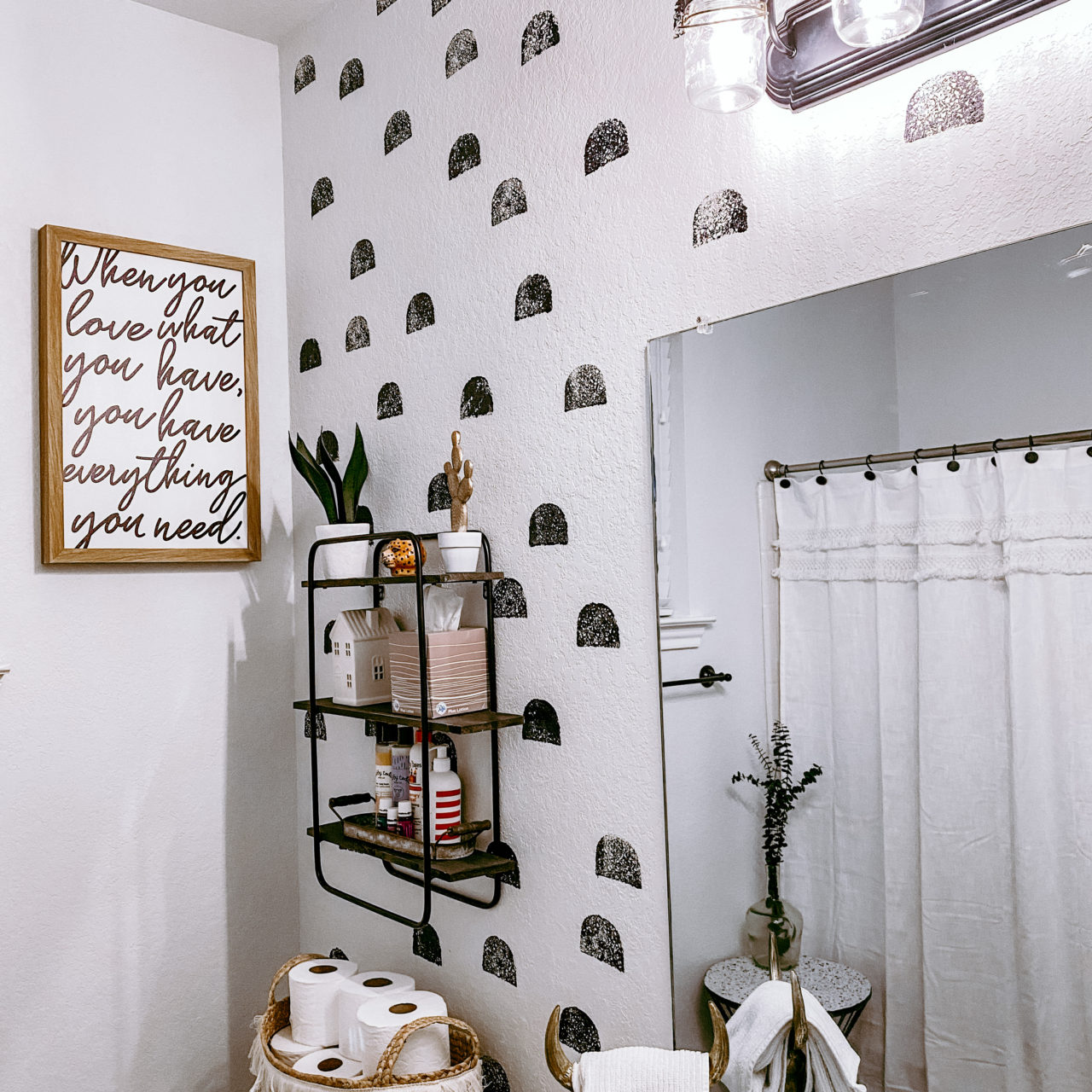 Painting your bathroom for under $50