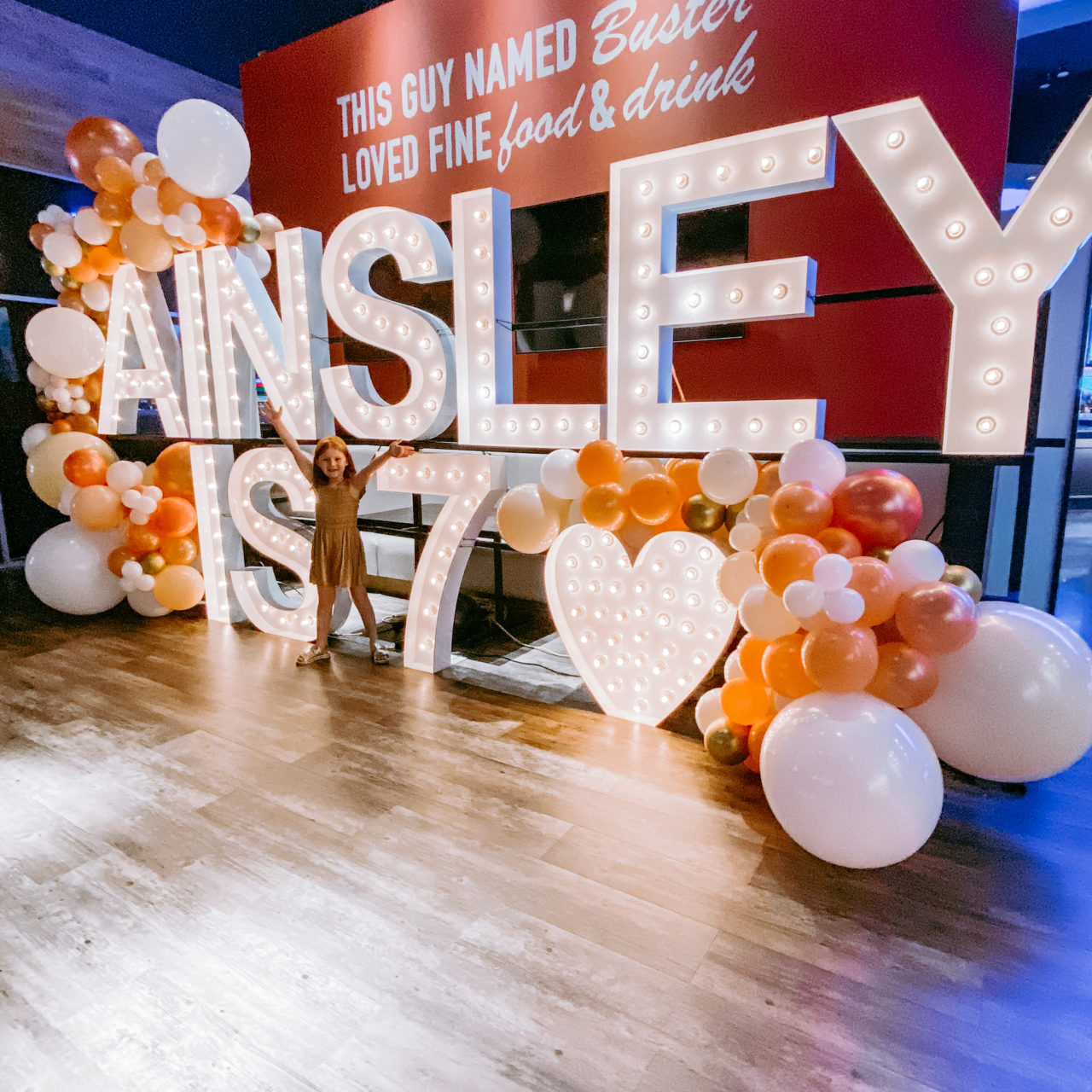Ainsley's boho rainbow party at Dave & Buster's!