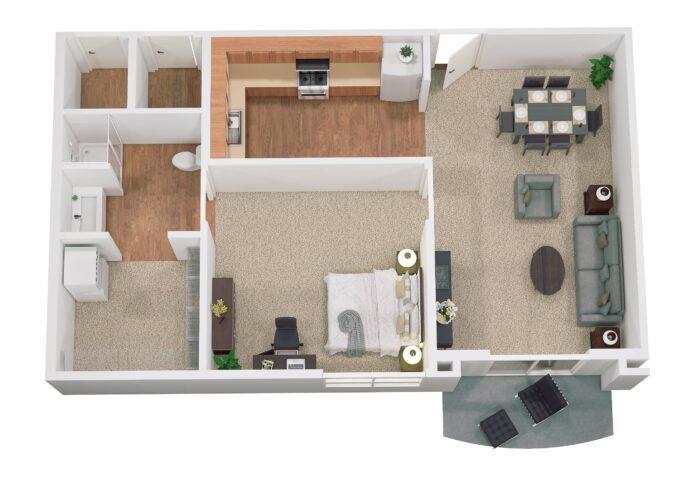 sandy springs floor plan SS1 759sq ft