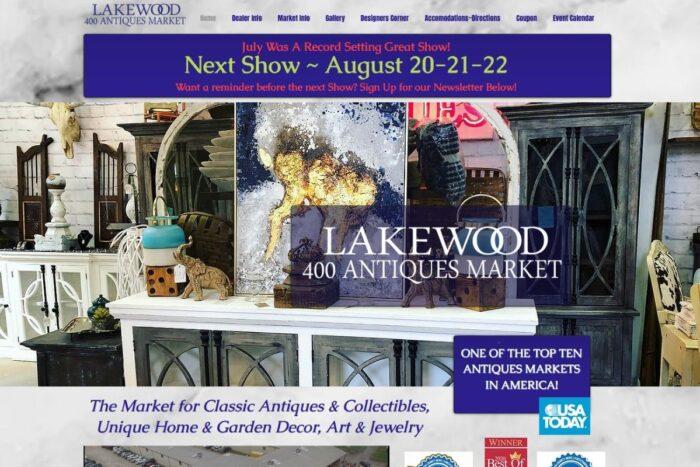 Lakewood 400 Antiques website homepage