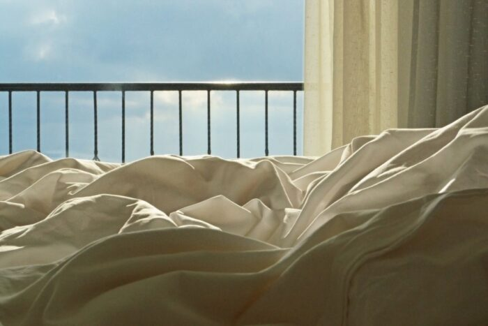 Cotton bedsheets under the sunlight