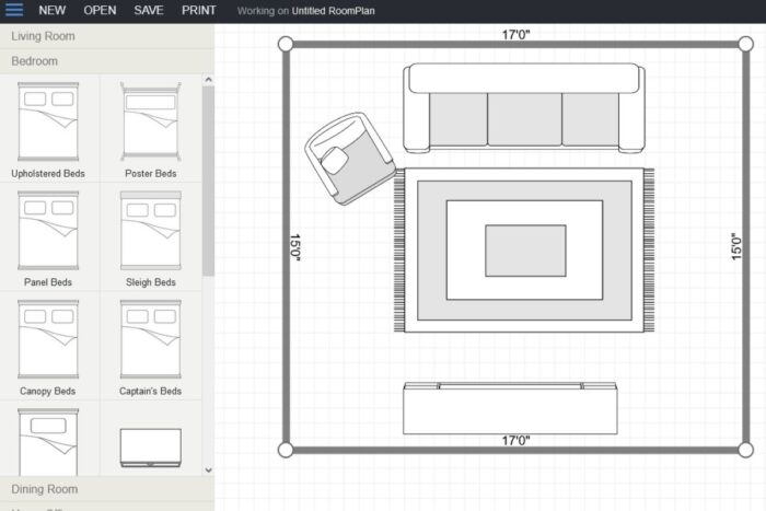PlanYourRoom online room planner