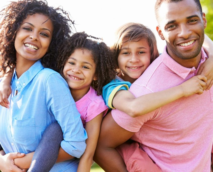 family with health insurance