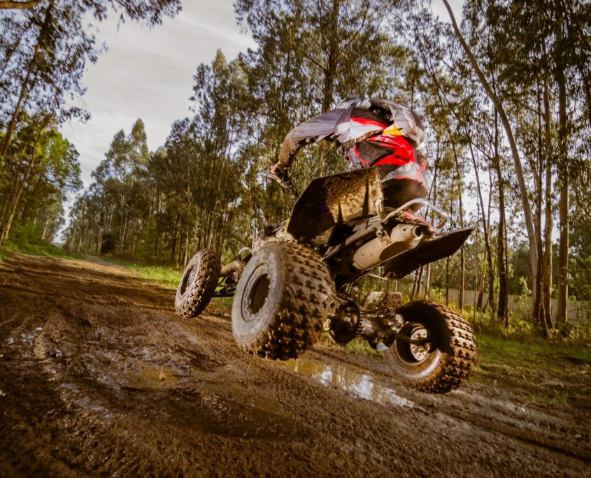 4 wheeler with motorsports insurance on trail