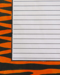 students use markers to color tiger stripes