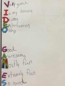 video games-acrostic poems