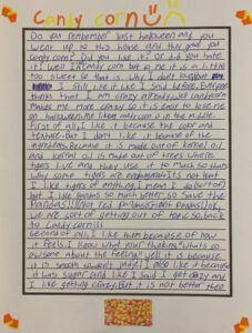5th Grader-Candy Corn opinion writing