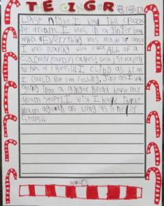 a student's story about candy canes