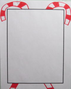 draw two big candy canes using red marker