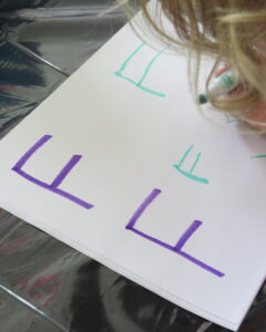 guiding students to write by writing letters