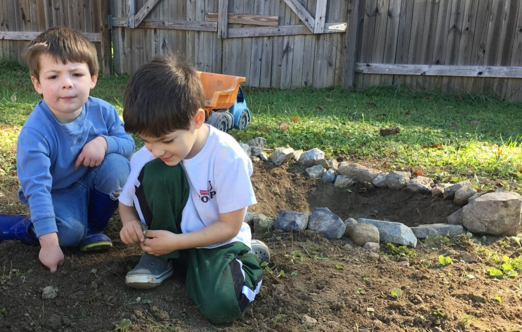 screen free activities, dig a fire pit