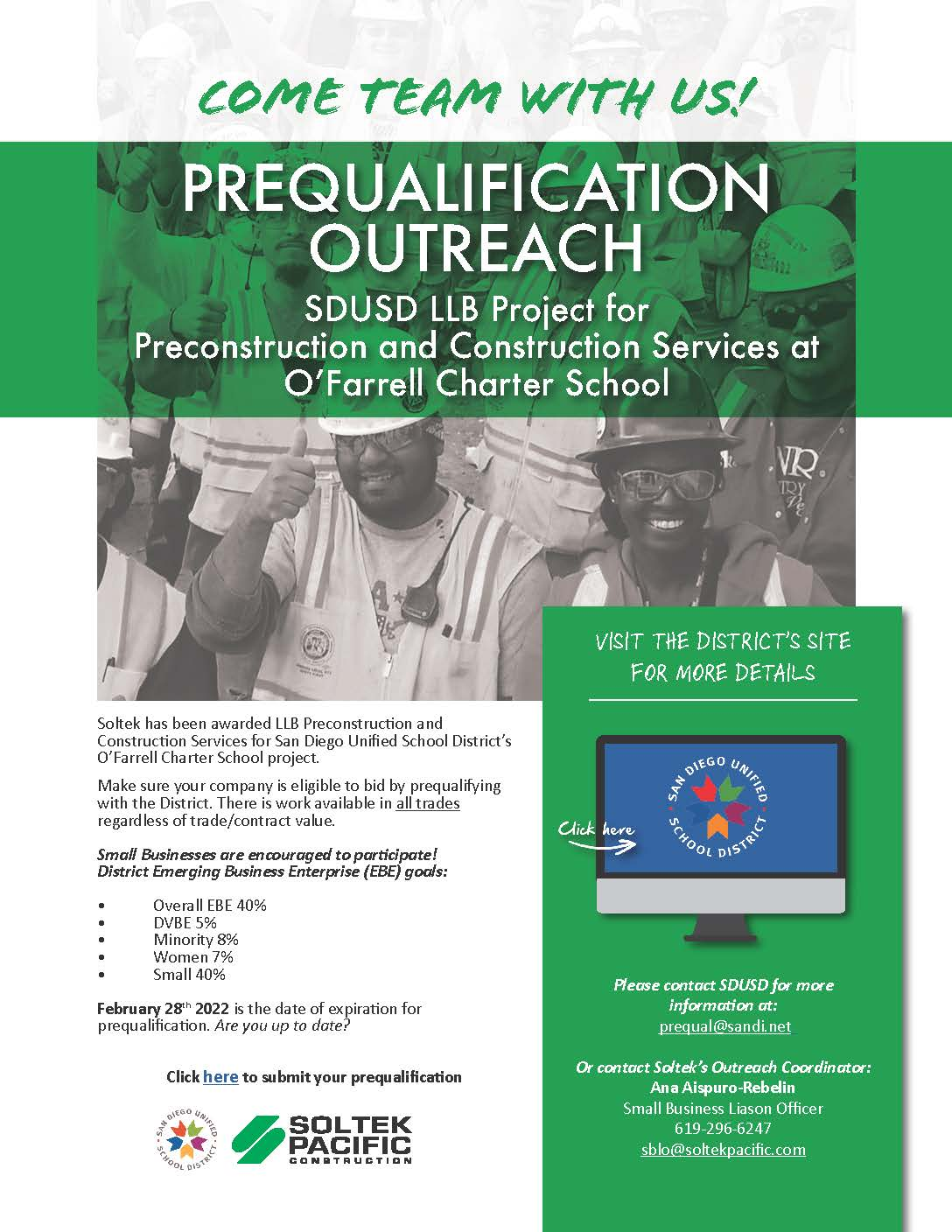 Prequalification Outreach