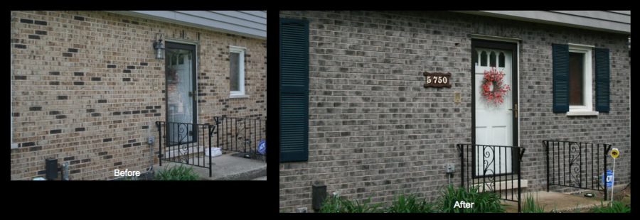 Palos Heights, IL Brick Color Makeover 1