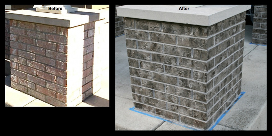 Carpentersville Brick Staining Closeup 3
