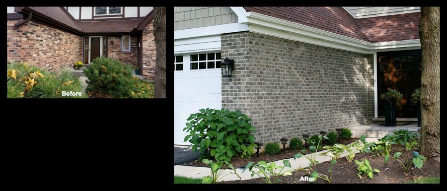 Wheaton, IL, Brick Staining Makeover 2