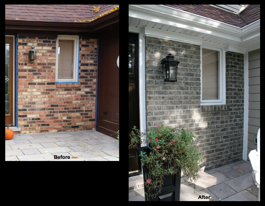 Wheaton, IL, Brick Staining Makeover 3