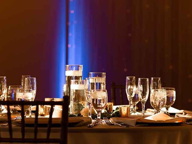 uplights for wedding service
