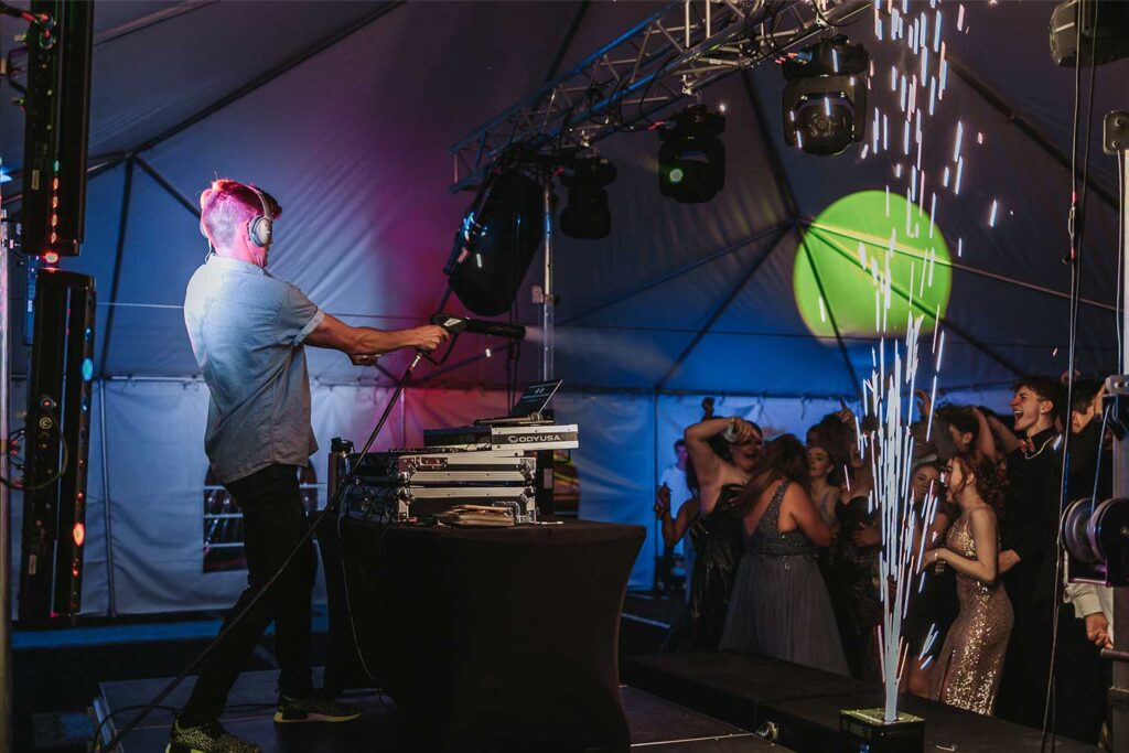 Estrella Foothills High School Prom with Cold Spark Effects for dancing with DJ Caleb Fine in