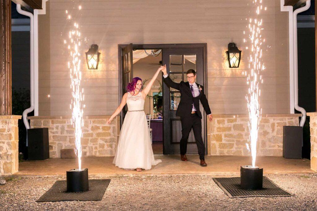 Gorgeous wedding sparkler fountain for wedding exit in Phoenix Arizoona