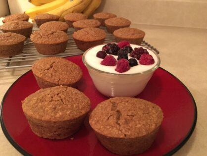 Dee's Flourless Oat Bran Muffins (Apple Cinnamon)