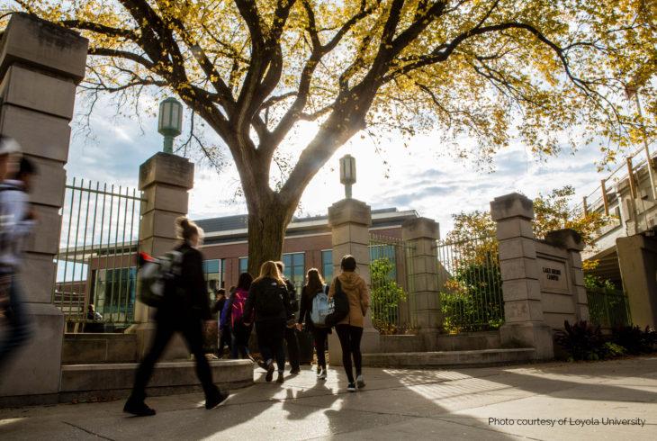 college tour at Loyola University