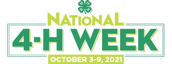 National 4-H Week October 3-9, 2021