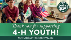 Thank you for supporting 4-H youth!