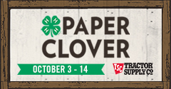 4-H Paper Clover - October 3-14, 2018 - Tractor Supply Company