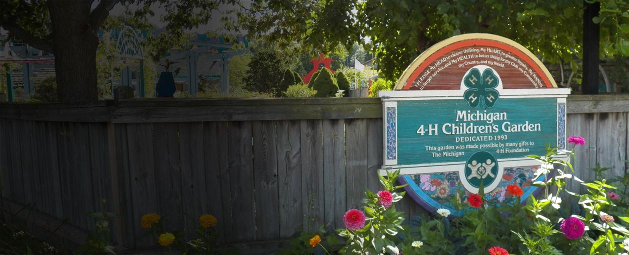 Michigan 4-H Children's Garden banner photo