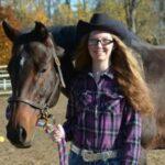 Hannah Glair with a horse