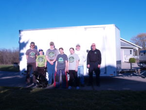 A new grant from the Hal and Jean Glassen Foundation has provided a new 4-H shooting sports trailer to store and transport the equipment in order to increase 4-H youth involvement in the program statewide. Pictured above are 4-H shooting sports state trainers and several youth members of the Barry County 4-H Shooting Sports Club.