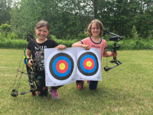 Kids from Schoolcraft County with their targets