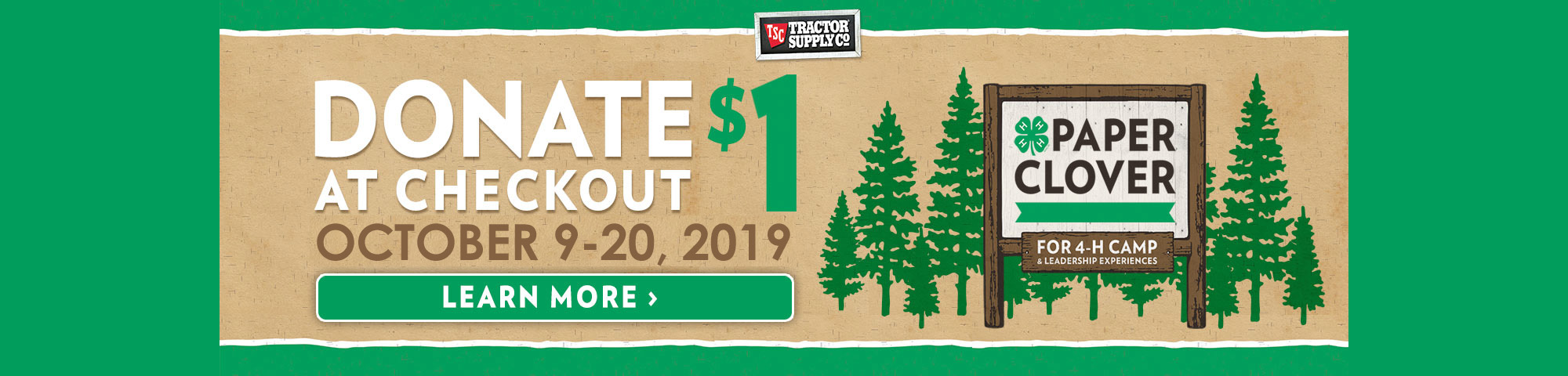 TSC Paper Clover October 9-10, 2019. Donate $1 at checkout. Learn more.