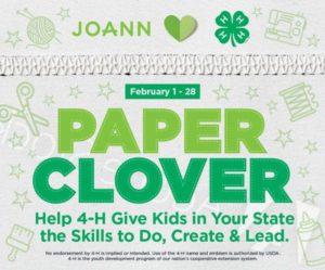 JOANN PAPER CLOVER Feb. 1-28