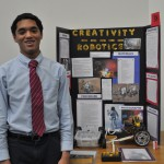 Paul Lopez with his science project
