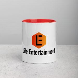 mug with orange color inside