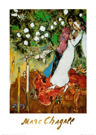 the lover's embrace marc chagall