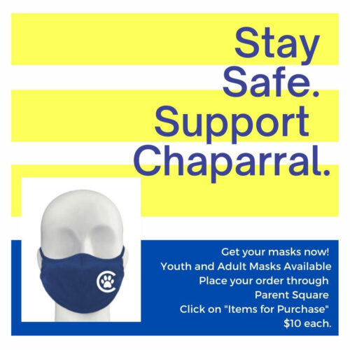 Chaparral Masks For Sale! Kids & Adults sizes NOW BACK IN STOCK!